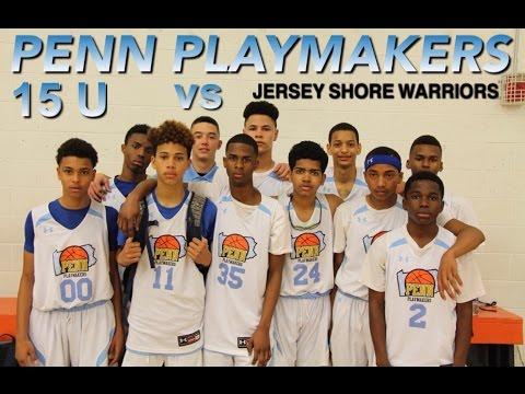 PENN PLAYMAKERS vs JERSEY SHORE WARRIORS  15U  AAU (4/15/17)