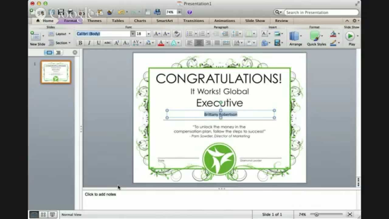how to make a certificate in powerpoint