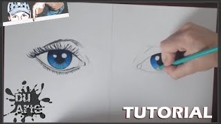 Cómo dibujar  OJOS AZULES / How to draw  blue eyes