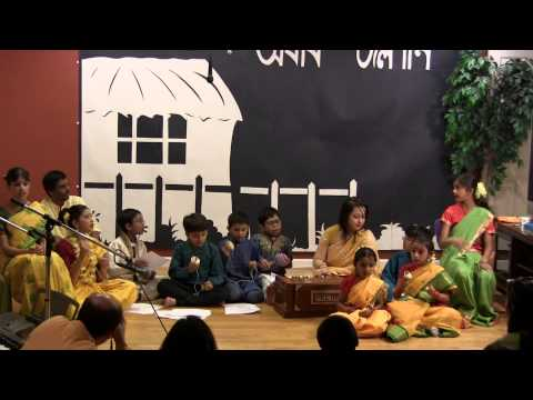Saraswati Puja 2013 Group Song: Ekla Chalo Re