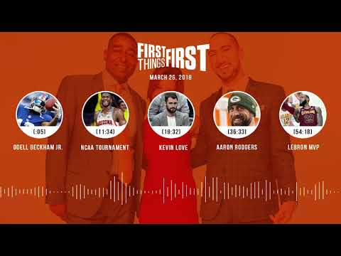 First Things First audio podcast(3.26.18) Cris Carter, Nick Wright, Jenna Wolfe | FIRST THINGS FIRST