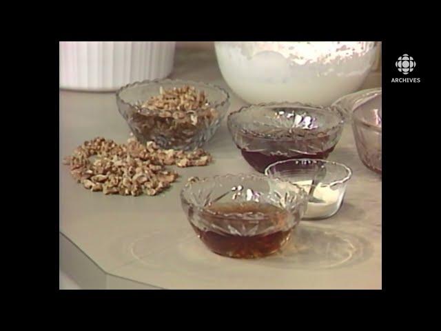 En 1987, présentation d'une recette de mousse à l'érable