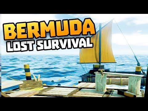 RAFT SURVIVAL IN THE BERMUDA TRIANGLE - Bermuda - Lost Survival Gameplay - Raft Survival Game