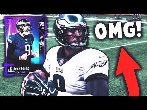 NICK FOLES IS THE FIRST 99 OVERALL! AND HE'S INSANE! Madden 18 Ultimate Team