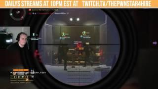 The Division MANHUNT PVP! CELEBRATION FAIL! Dark Zone SMG-9 Multiplayer Gameplay PC