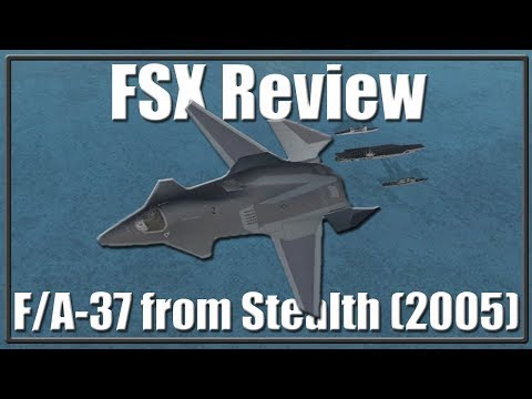 """FSX: Review: F/A-37 Tallon from """"Stealth"""""""