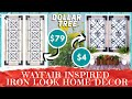 DIY DOLLAR TREE Wayfair Inspired Wall Decor | Real Wood | Wrought Iron Look | High End Home Decor!