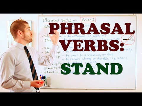 Stand out phrasal verb meaning