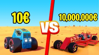 VOITURE À 10€ vs. 10,000,000€ : DUEL DE CONSTRUCTION (Trailmakers)