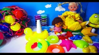 American Doll Learning Colors with Dora Toys Kids Video