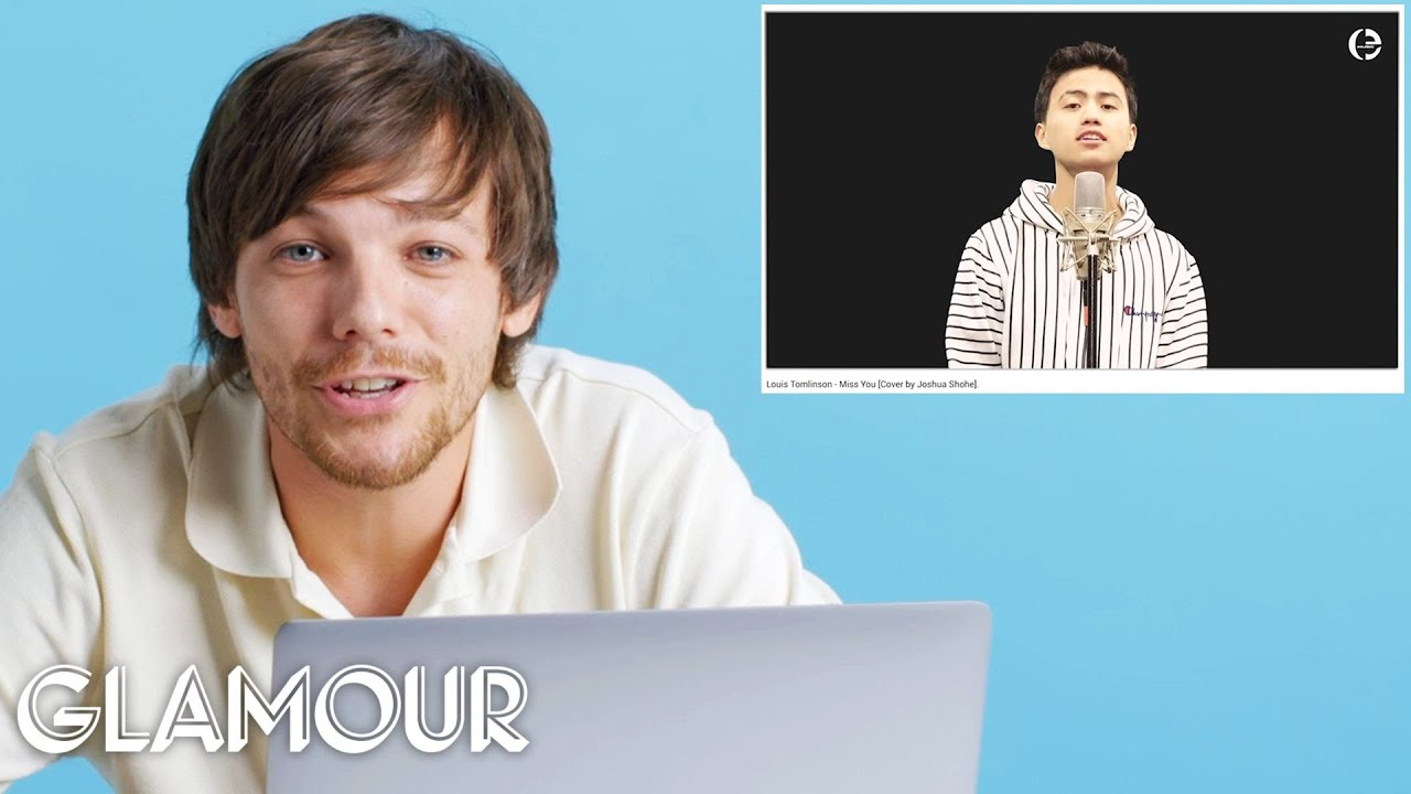 Louis Tomlinson Watches Fan Covers on YouTube | Glamour