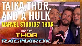 Taika, Thor and a Hulk -- Marvel Studios' Thor: Ragnarok Red Carpet Premiere