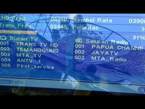 Cara Mencari Freq Trans7 dan Trans TV di Satelit Telkom 3S Dengan Mudah