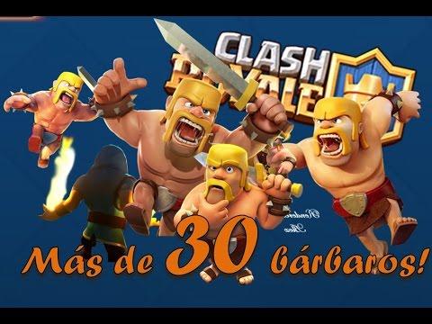 30 bárbaros a la vez Clash Royale con Junior PitT #134 ## Gameplay Español