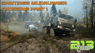 Spintires Mudrunner , Crossing map. day 1, unlocking the map!