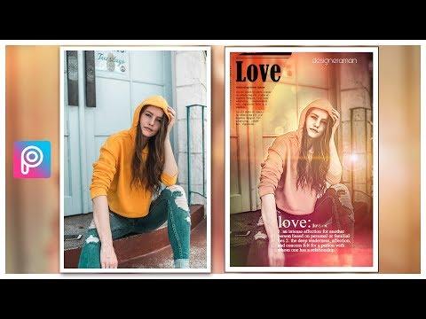 Creative love poster design  picsart Mobile Photo Editing Video Tutorial thumbnail