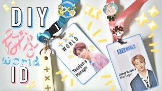BTS WORLD Manager ID Lanyard DIY (+ TXT)