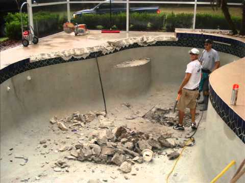 Outdoor impressions pool to patio conversion youtube for Swimming pool conversion