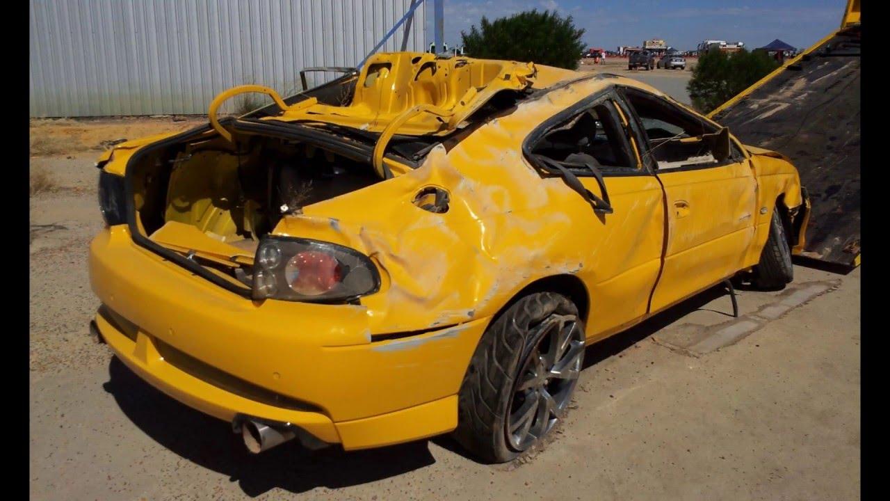 Eddy Tassone's GTO 1000+rwhp rollover crash at Racewars 2013