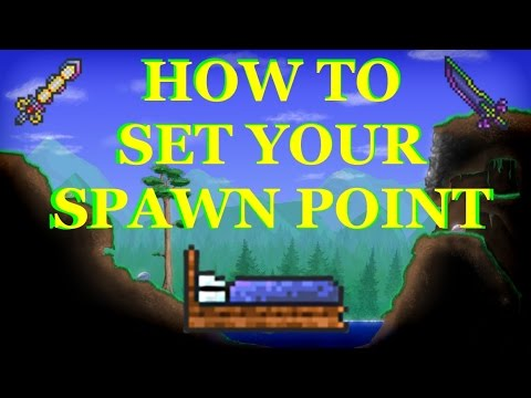 Terraria - HOW TO SET YOUR SPAWN POINT - HOW TO CRAFT A BED PS3/PS4/Xbox/PC