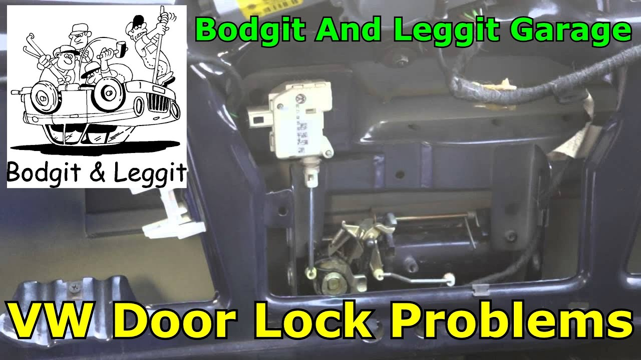 vw golf boot lock not working how to fix it bodgit and