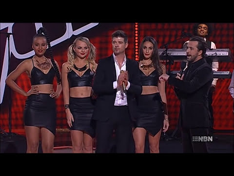 Robin Thicke - Blurred Lines, live on The.Voice.AU