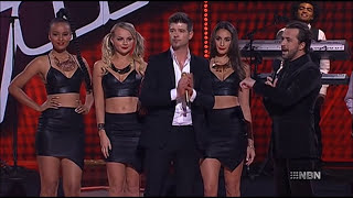Repeat youtube video Robin Thicke - Blurred Lines, live on The.Voice.AU