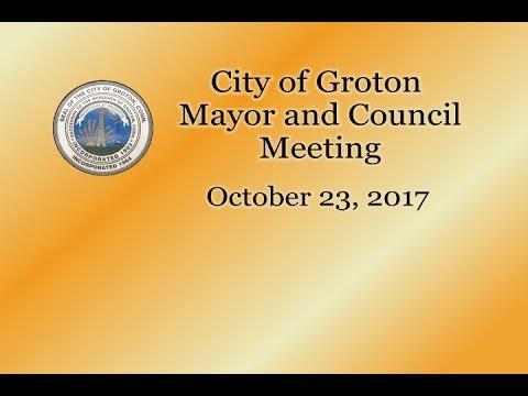 City of Groton Mayor & Council - 10/23/17