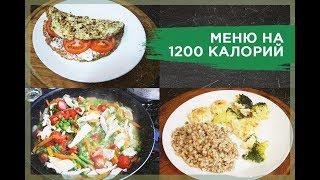 МЕНЮ НА ДЕНЬ 1200 ккал