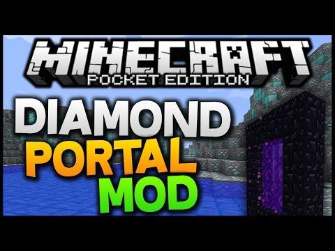 Minecraft PE 0.11.0 - Diamond Portal MOD