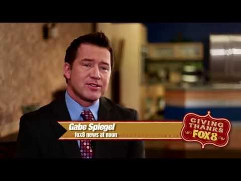 Gabe spiegel giving thanks fox 8 news commercial youtube
