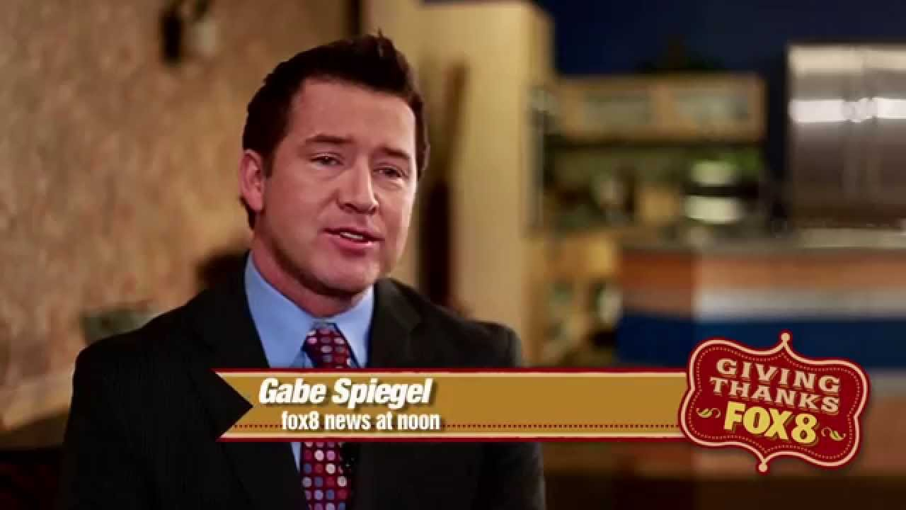 Gabe spiegel giving thanks fox 8 news commercial youtube for News spiegel