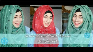 Everyday Winter 3 easy Hijab Style ft Styline Collection | Pari ZaaD