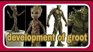 GROOT'S DEVELOPMENTAL STAGES IN GUARDIANS OF THE GALAXY (MARVEL CINEMATIC UNIVERSE)