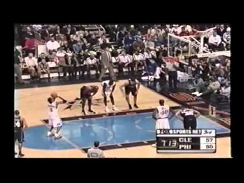 Allen Iverson 22pts vs Cavs 00/01 NBA MVP *8-0 Starts