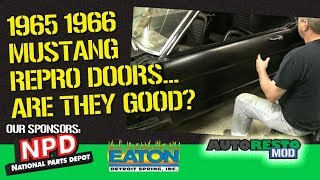 1965 1966 Mustang Reproduction Door Shell  Test Fit Episode 358 Autorestomod