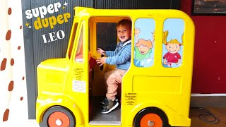 Yellow Wheels on the Bus Song for Kids and Fun Day Ride on Giant Car Toys
