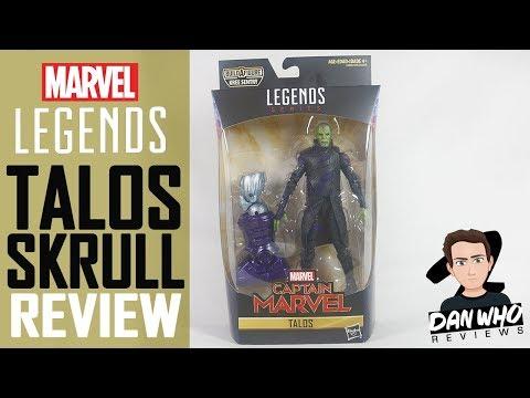Marvel Legends Talos Skrull Captain Marvel Kree Sentry BAF Action Figure Review