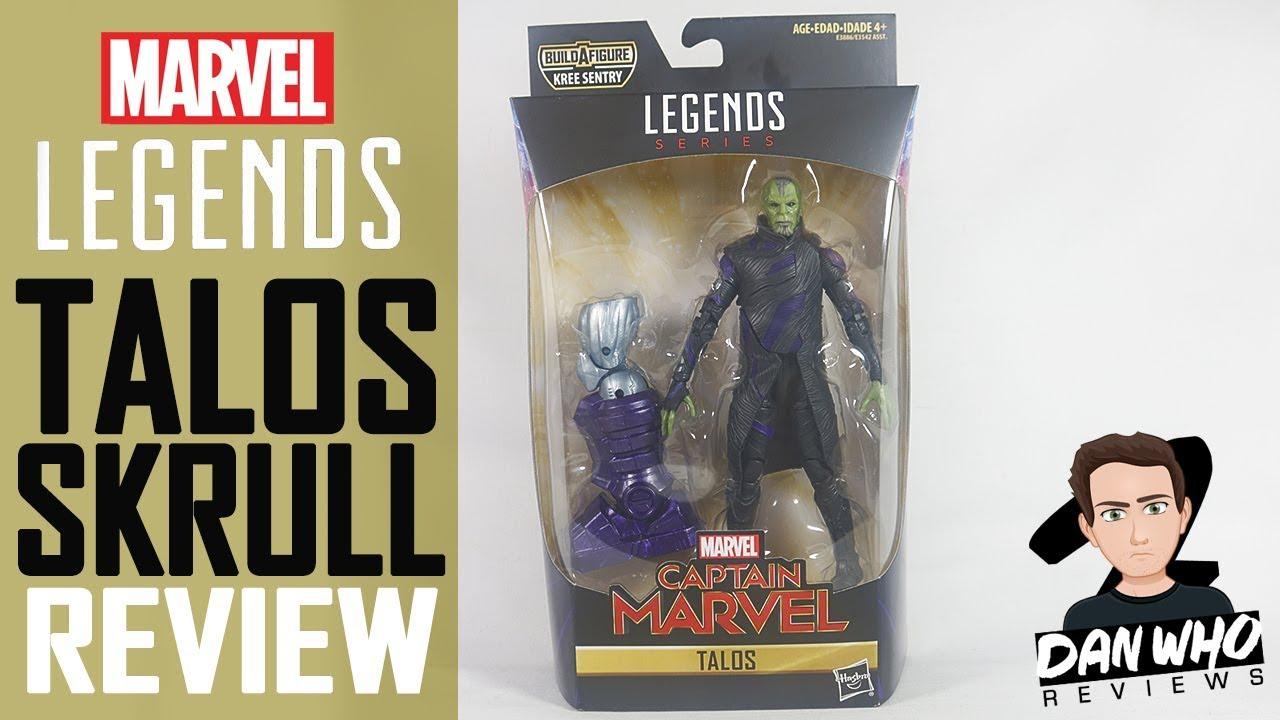 Marvel Legends Talos Skrull Captain Marvel Kree Sentry Baf Action