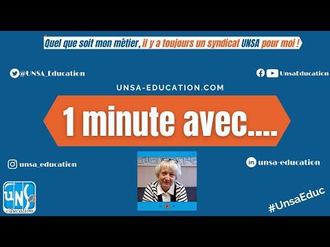#1minuteAvec Béatrice Laurent, Secrétaire Nationale #UnsaEduc à l'éducation et à la culture