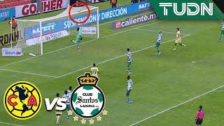 ¡Roger iba a hacer un golazo! | América 0 - 0 Santos | Liga Mx - AP 19 - J17 | TUDN