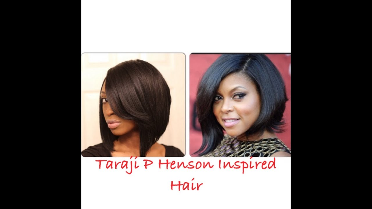 2019 year look- Henson p Taraji bob hairstyles