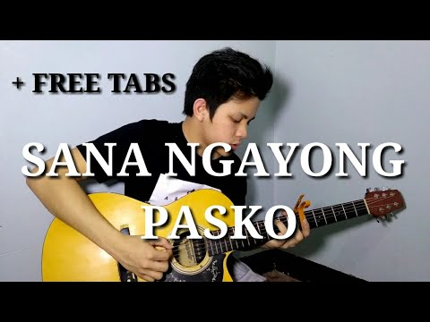 Moira Dela Torre | Sana Ngayong Pasko  (Fingerstyle Guitar Cover) (WITH TABS)