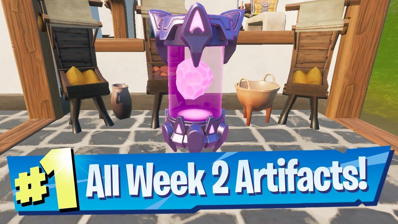 Week 2 Alien Artifact Locations – Fortnite (Chapter 2 Season 7)