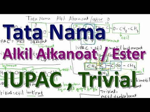 Tata Nama Ester (Alkil Alkanoat) IUPAC dan Trivialиз YouTube · Длительность: 13 мин47 с