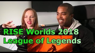 RISE (ft. The Glitch Mob, Mako, and The Word Alive) | Worlds 2018 - League of Legends (REACTION 🔥)