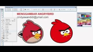 Repeat youtube video Menggambar Angry Bird dengan CorelDraw X5
