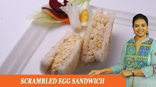 Scrambled Egg Sandwich - Mrs Vahchef