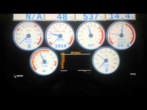 VEMS display test - Citroen C2 VTS A6