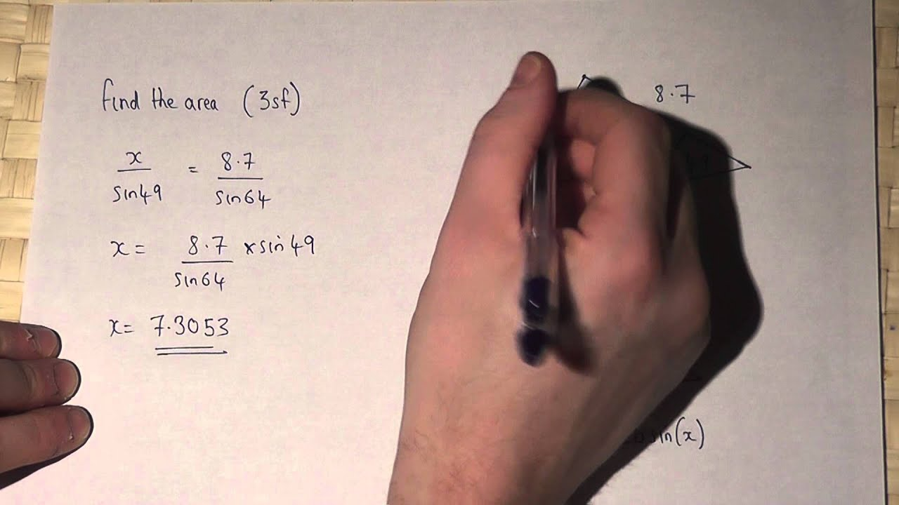 Chapter 115 Using Trig To Find The Area